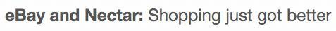 ebay nectar just got better